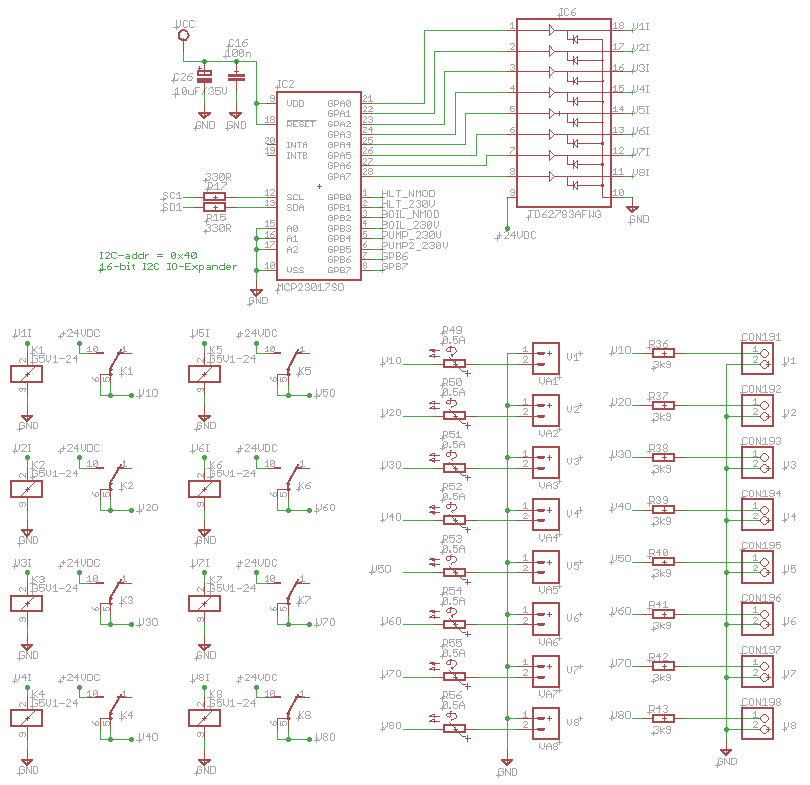emile s home brewing site hardware elektronics the only thing not covered in the schematic are the resistors r49 until r56 these are resettable fuses or ptcs they have a low resistance at a current of